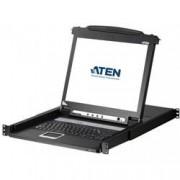 Aten Switch KVM USB-PS2 VGA a 8 porte con schermo LCD 17'', CL1008M
