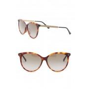 Gucci 57mm Round Sunglasses HAVANA-GOLD-BROWN