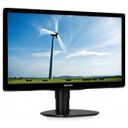 "Philips S-line 200S4LYMB - Monitor LED - 20"" (19.5"" visível) - 1600 x 900 - 250 cd/m² - 1000:1 - 5 ms - VGA, DisplayPort - alti"