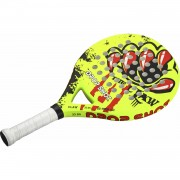 Drop shot padelracket claw round junior geel