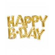 Vegaoo.se Happy Birthday - Aluminium ballong i guld 76 cm