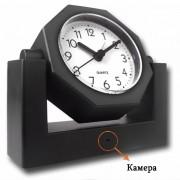 Стилен алармен часовник с вградена камера