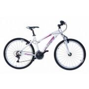 Bicicleta MTB X-Fact Active 26 pentru femei alb cadru 19