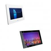 Edimeta Écran vidéo LCD-TFT 7 pouces - Blanc