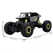 Kajal Toys™ Metal Alloy Body Double Motor 4X4 Remote Control Car 1:16 Scale Rock Crawler Car,X-Large Size, (Green)