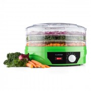 Klarstein TK19-Sunfruit-G, уред за сушене на плодове и зеленчуци, цвят зелен, 260 W (TK19-Sunfruit-G)