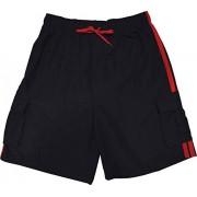 TRU-CAL Bañador para Hombre con Entrepierna Larga de 26,67 cm y Cintura elástica, Varios Colores, 2XL-4XL, Negro/Rojo, XXX-Large