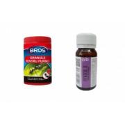 Pachet anti furnici format din granule 60 gr Bros si Insecticid universal Pertox 8 50 ml