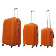 Zestaw trzech walizek ABS01 w kolorze pomarańczowym - Nowa Kolekcja