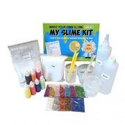 Make Your Own Slime! Slime Kit W/ Containers, Clay, Slime Beads, Glue, Glitter Powders with Slime Recipes For Making Color, Clear, and Different Types of Slime How to Make Slime Instructions Included