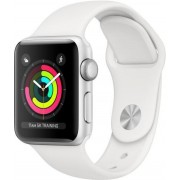 Apple Watch Series 3 GPS, 38mm Silver Aluminium Case with White Sport Band, MTEY2ZD/A