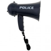 Anbau Toys Police Megaphone w/ Siren Sounds for Policeman Costume Dress Up - Boy Detective Officer Role Play Game