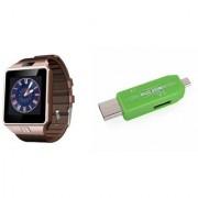Zemini DZ09 Smart Watch and Card Reader for LG OPTIMUS L9 II(DZ09 Smart Watch With 4G Sim Card Memory Card| Card Reader Mobile Card Reader)
