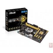 Asus H81M-PLUS, Intel H81, VGA by CPU, PCI-Ex16, 2xDDR3, SATA3, VGA/DVI/HDMI/USB3.0, mATX (Socket 1150)