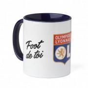 Olympique Lyonnais Mug Personnalisable Saint Valentin - Foot de toi OL - Foot Lyon