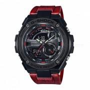casio g-shock GST-210M-4A 200 metros resistencia al agua G-STEEL series reloj - negro + rojo