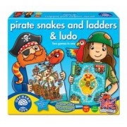 Joc de societate Piratii PIRATE SNAKES AND LADDERS and LUDO