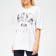Love Moschino Women's Logo Embossed T-Shirt - Optical White - IT 44/UK 12 - White