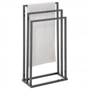 IDIMEX Porte-serviettes KUNO, en métal laqué gris