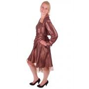Korte jurk bruin met overslag-42