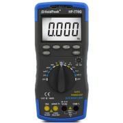 HOLDPEAK 770G Digitális multiméter VAC VDC AAC ADC ellenállás kapacitás hőmérséklet frek relatív érték.