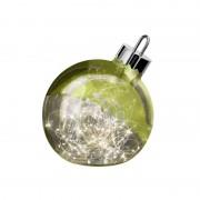 Ornament decorative light, green, 20 cm diameter