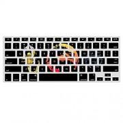 """WOEO The Origin of Mortal Kombat Scorpion Carcasa de silicona para teclado de MacBook (versión estadounidense A1466 de 13,3"""", incluye protector de silicona)"""