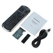 Version russe Mini clavier de souris iPazzport Voice Wireless Touchpad IR Learning Remote