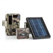 Solar Grizzly Wildkamera Set Black LED HD 8 MP Solar-Panel