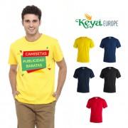 Camisetas publicidad baratas color Keya MC130