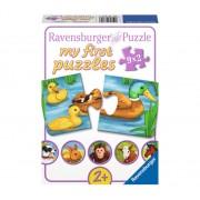Puzzle Animale prietenoase, 18 piese