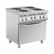 Elektrische kookplaat - 13.400 W - 4 branders - met heteluchtoven