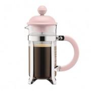 Bodum CAFFETTIERA Cafetière à piston avec couvercle en plastique, 3 tasses, 0.35 l, acier inox Strawberry