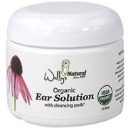 Wally's Natural Products Ear Organic Solution Cleansing Pads 50 Count