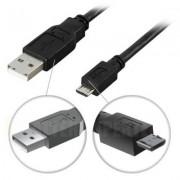 . USB 2.0 kabel Typ A ha - Typ Micro B ha, 5-pin, för laddning/dataöverföring till mobiltelefoner/PDA, 1m, svart