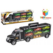 Toys Bhoomi Die-Cast Toy Vehicles Truck Carry Case City Cars Helicopters Trucks Playset