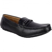 Austrich Mens Black Synthetic Leather Loafers