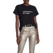 Rag Bone Your Mouth My Love Graphic Print T-Shirt BLACK
