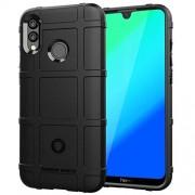 Minyangjie Caja del teléfono móvil Gran Cobertura Completa a Prueba de Golpes Caso de TPU for Huawei Honor 10 Lite (Verde del ejército) (Color : Black)