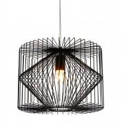 [lux.pro]® Dekoratívní designové závěsné svítidlo / stropní svítidlo - černé (1 x E27) HT168051