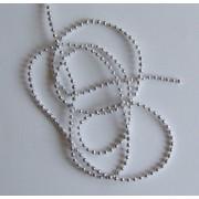 Korálky 4 mm na šnúrke strieborné