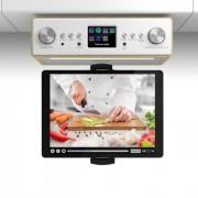 Auna Connect Soundchef Radio de cuisineDAB+ FM + support de tablette - hêtre