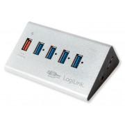 Hub USB3.0 5 Porte in Alluminio con Ricarica Veloce