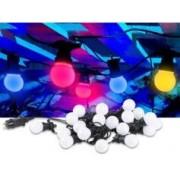 Lunartec Guirlande guinguette 9,50 m 20 ampoules LED 6W - 4 couleurs