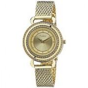 Timex Quartz Gold Dial Women Watch-T2P232