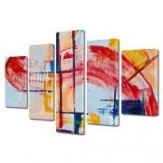 Tablou Canvas Premium Abstract Multicolor Suprapunere De Culori Decoratiuni Moderne pentru Casa 120 x 225 cm