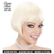 WIDMANN (standard size, Blond) Valentina Bob s Blonde Wig for Hair Accessory Fancy Dress