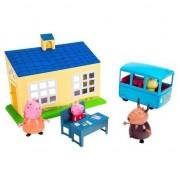Set figurine Peppa Pig - School and bus