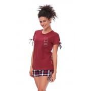Hello Bunny rövid női pizsama, borszínű M