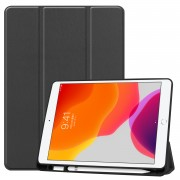 Tri-fold Stand Leather Smart Tablet Cover Case for iPad 10.2 (2019) - Black